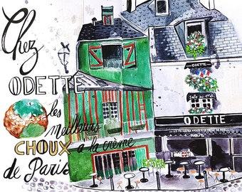 """Carte Postale de Paris """"The Pastry Chez Odette"""""""