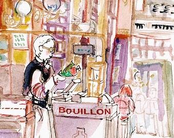 """Postcard from Paris """"Le Bouillon Chartier"""""""