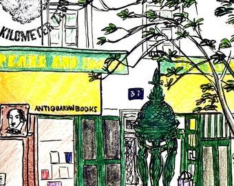 """Carte Postale de Paris """"The Shakespeare Bookstore - Co"""""""