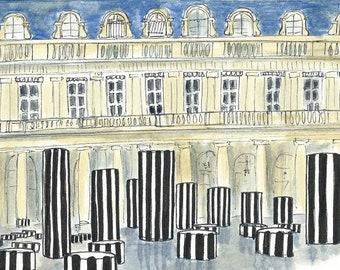 """Postcard from Paris """"Le Palais-Royal"""""""