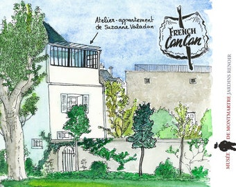 "Postcard of Paris ""The Museum of Montmartre"""