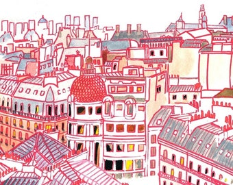 """Postcard """"The Roofs of Paris"""""""