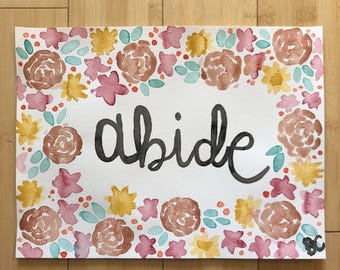 Abide - floral
