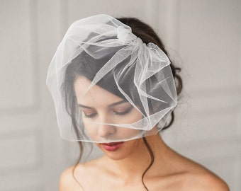 Bridal birdcage veil, Birdcage veil, birdcage fascinator, Ivory birdcage veil, Wedding veil, Bridal headpiece, Hair accessories