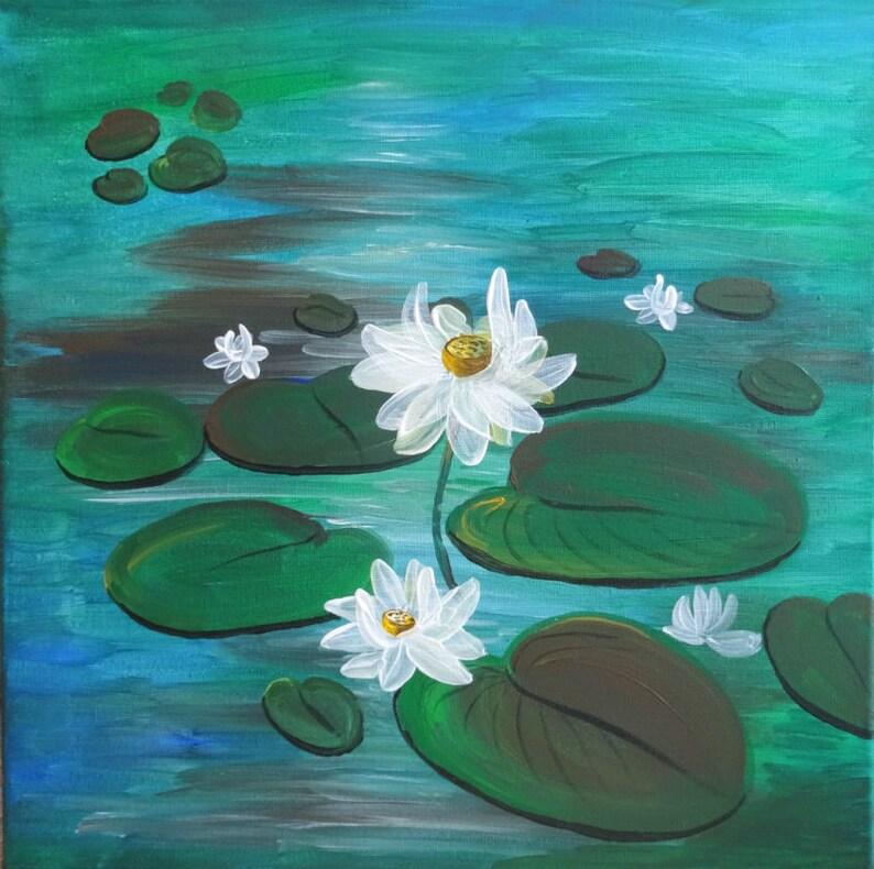 Lotus Lotus Auf Wasser Seerose Seerosen Teich Weißen Etsy