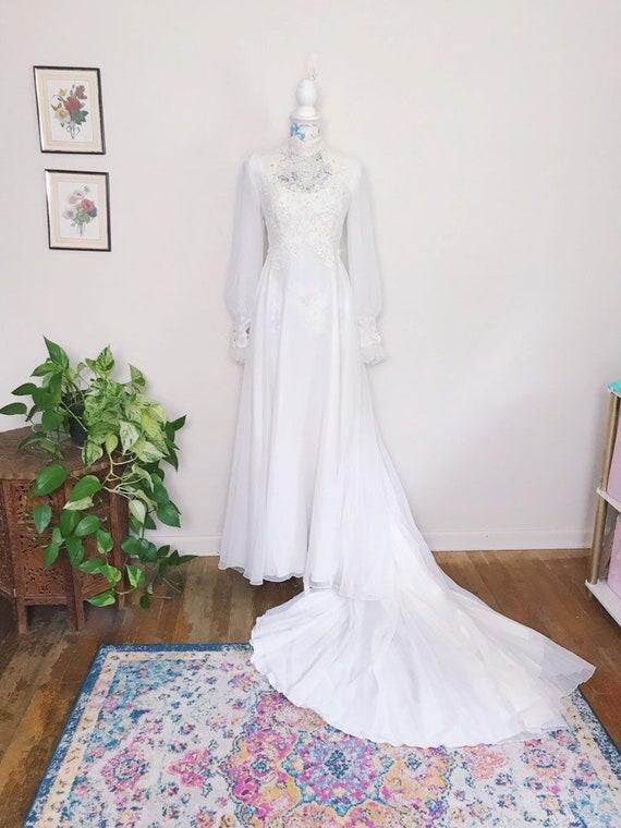 Vintage 70's Bohemian Wedding Dress