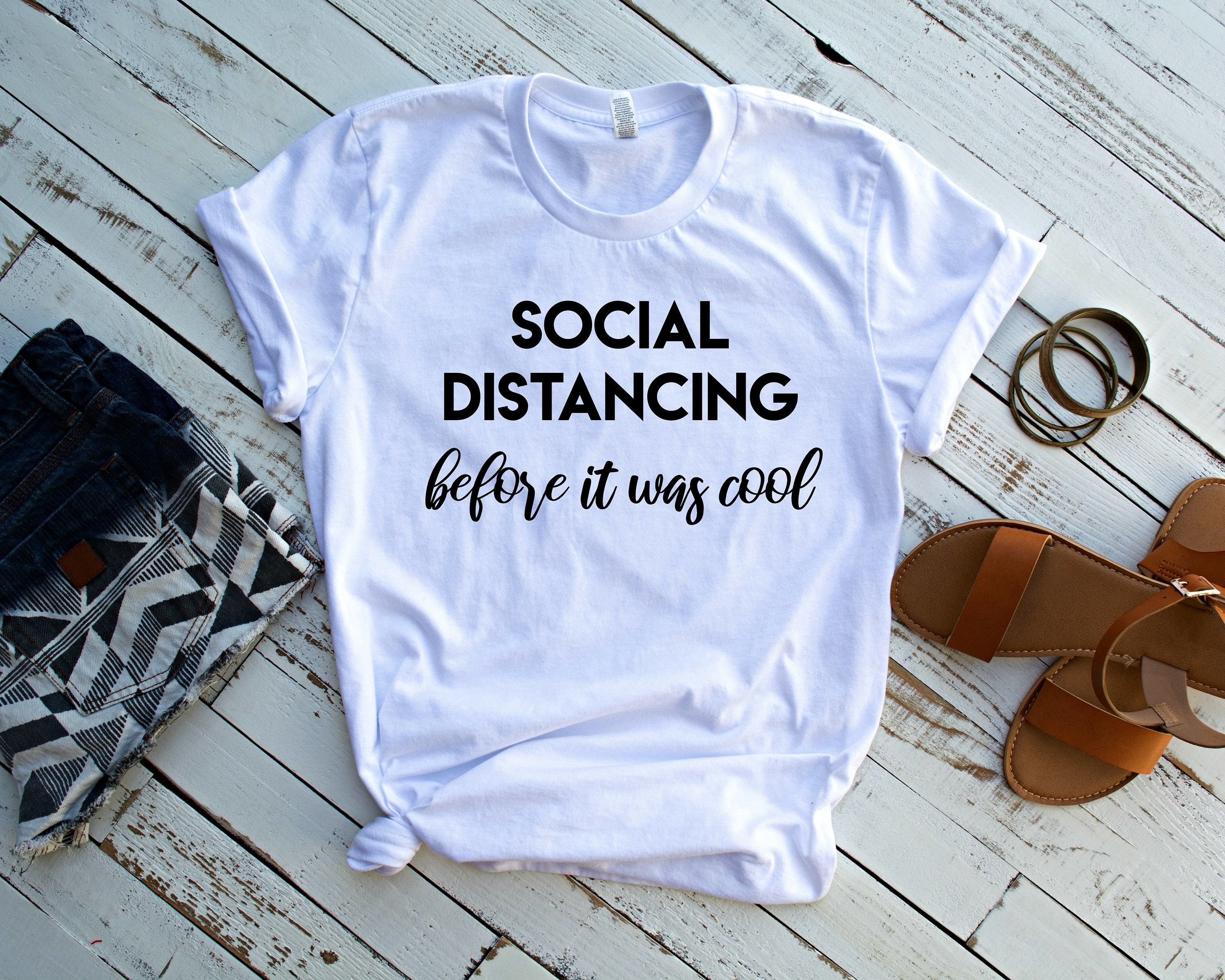 Best quarantined mom shirts from etsy - Social Distancing T-shirt for Women