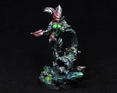 Succubus Bard Miniature, D&D miniature, Demon Miniature, Painted Succubus Miniature, Daemon Warrior, Warhammer Chaos Lord, Demon Fighter