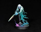 Painted DnD miniature, Ghost Miniature,Painted Nighthaunt,Wraith miniature,Warhammer Chainrasps Spirit,Spectre,DnD,Undead Spirit,D&D,RPG,RIP