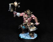 Bloodreaver Miniature, AOS Chaos, Two Axes, DnD Warrior, Barbarian Miniature,Warhammer Miniature, Painted Miniature,DnD miniature,Ice,Frozen