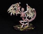 DnD Miniature, Bone Devil, Reaper Devil, Bone Miniature, Osyluth  Miniature, Demon, Fantasy RPG D&D Pathfinder Role Playing Tabletop Games