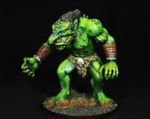Troll Miniature, DnD miniature, Hand Painted Green Giant, Dungeons&Dragons Figure, Fantasy RPG, DnD, Pathfinder, Role Playing Tabletop Games