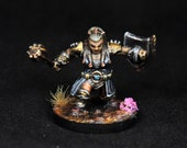 Female Gold Dwarf Cleric, Dwarf Miniature, Dwarf Cleric, Gold Dwarf, Female Dwarf, Female Cleric Miniature, RPG Pathfinder, dnd miniature