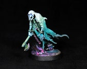 Ghost Miniature,Painted Nighthaunt, DnD miniature, Wraith miniature,Warhammer Chainrasps Spirit, Spectre, DnD,Undead Spirit,D&D, RPG, RIP