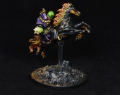 DnD miniature, Painted miniature, Nightmare Rider, Lich Sorcerer, Evil Rider, Horse Rider, Ghost Rider, Wizard Knight, Mage figurine,RPG,DnD