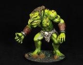 DnD miniature, hand painted, Troll miniature,Green Troll,Giant figurine,Dungeons&Dragons Miniature,Fantasy mini,RPG,DnD,Pathfinder miniature