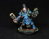 Engineer Miniature, Alchemist Miniature, DnD Engineer, Decker Lugstampf, Reaper Miniature, Painted Miniature,DnD miniature, RPG, D&D, figure
