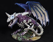 Hand Pro Painted, DnD Miniature, Huge Dragon Miniature, Blue Dracolich, Dragon Skeleton, Fantasy Mini, RPG Pathfinder, Role Playing Games