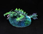DnD miniature, Turtle Dragon, Dragon Tortoise, Dragon miniature, Water Dragon, Sea Turtle, Lake Monster, Fantasy RPG, Dungeons&Dragons