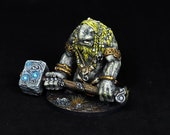 Troll Miniature, DnD miniature, Hammer Troll, Blood Rage, Cave Troll, Painted Giant, Figther, Warrior,Ogre Figure,Fantasy RPG,DnD,Pathfinder