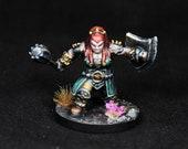 dnd cleric miniature, Female Dwarf Cleric,Dwarf Miniature,Female Duergar,Dwarf Cleric,Female Dwarf,Female Cleric Miniature,dnd miniature