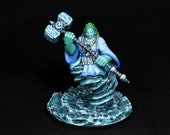 Painted Miniature, DnD miniature, Female Djinn, Water Spirit, Ghost, Marid, Genie, Djinn, Dao, RPG, Dungeons&Dragons, Pathfinder, DnD