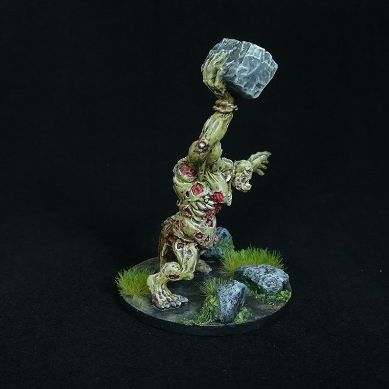 DnD, Pro Painted, Miniature, Zombie, Undead, Ogre, Green, Giant,  Dungeons&Dragons, Fantasy, RPG, Role, Playing, Pathfinder, Tabletop, Games