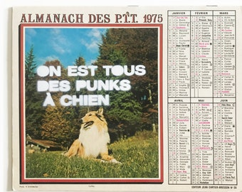1993 Vintage calendar with a Stencil from Furieuse
