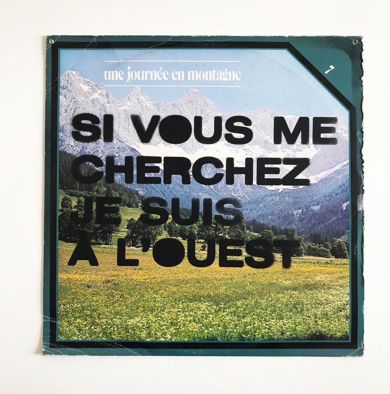 Stencil on 33T. Vinyl vintage cover with original slogan from image 0