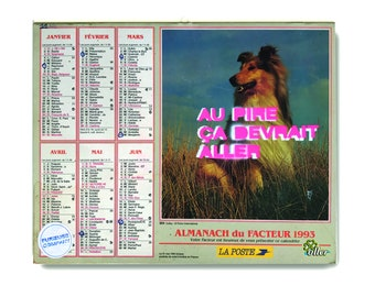 1987 Vintage calendar with a Stencil from Furieuse