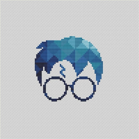 Harry Potter Cross Stitch Pattern Hogwarts Geometric Polygonal | Etsy