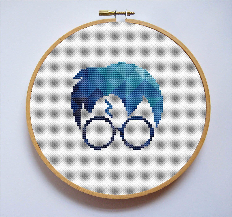 Harry Potter Cross Stitch Pattern Hogwarts Geometric Polygonal | Etsy