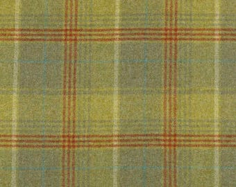 Abraham Moon Earth Blue100/% Wool Plain Upholstery FabricIn Stock