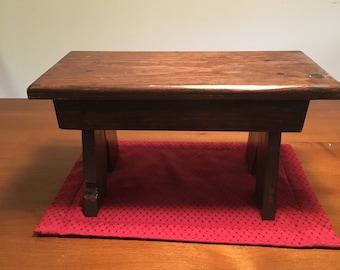 Rustic handmade footstool,