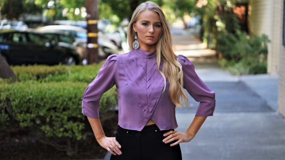 Vintage Cropped Blouse