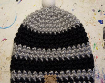 Hand crocheted beanie - Ascensor - Free shipping!