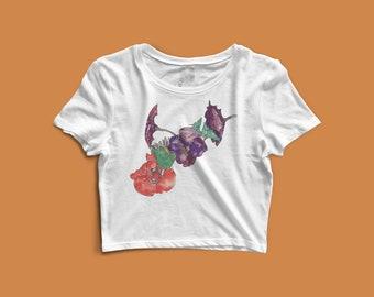 Flower Study Painting - Egon Schiele Crop Top