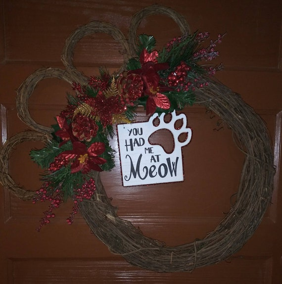Christmas Cat Wreath