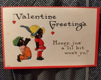 Vintage 1913 S. Bergman Valentine Greetings Postcard No. 2200