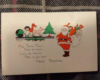 Vintage Merry Christmas Postcard No. 2403