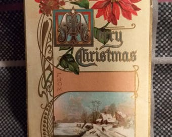 Vintage Merry Christmas Postcard Christmas Series Number 636