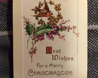 Vintage 1910 Christmastide Postcard