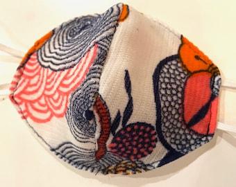Vintage 70's Garden Fabric Face Mask