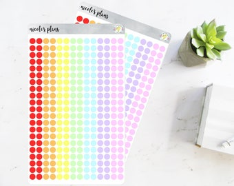 Transparent Colored Dot Stickers for Planner • Custom Planner Dot Stickers • Stickers for Happy Planner, Erin Condren