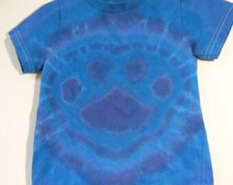 Toddler 2T Paw Print Tie Dye 100% Cotton Short Sleeved T-shirt