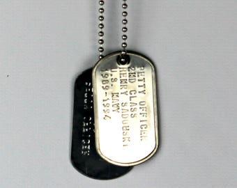 f61134de1bf3 Military dog tag | Etsy