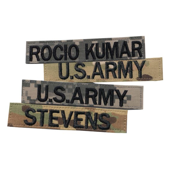 DIGITAL CAMO CUSTOM NAME TEXT ARMY MILITARY NAME TAG EMBROIDERED PATCH