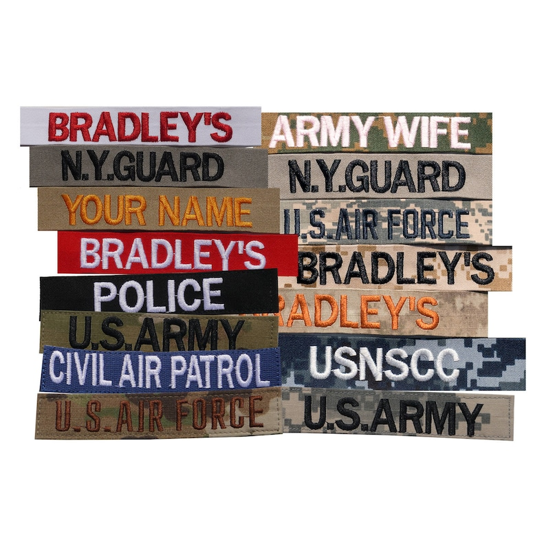 Custom Name Tag For M-65 Field Jacket. Embroidered Name Tape Army ... a94d7fdc9