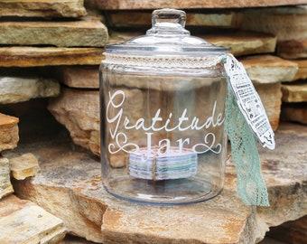 Gratitude Jar, Mother's Day Gift, Gift for Mom, Gratitude Jar Kit, Blessing Jar, Memory Jar, Happiness Jar, Gratitude Cards