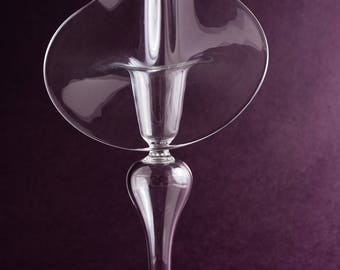Clear Glass Jack in the pulpit Candleholder